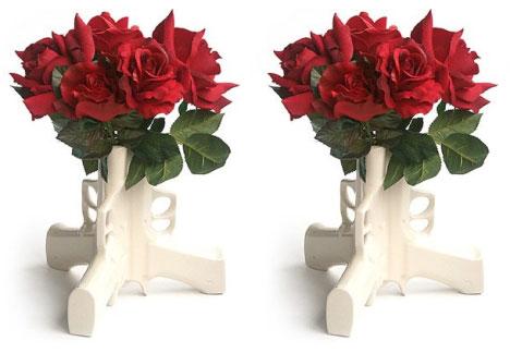 Gun Flower Vase :  flower flower vase gun funny