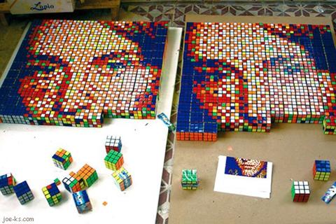 Rubik's Cube Mosaic
