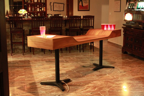 Custom Wood Beer Pong Table by Joseph Mollo | WooHome
