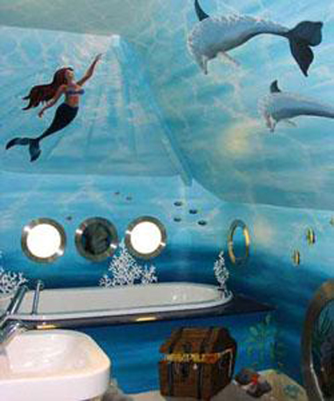 home bathroom under water theme on pinterest ocean mural