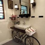 Bicycle Bathroom Sink