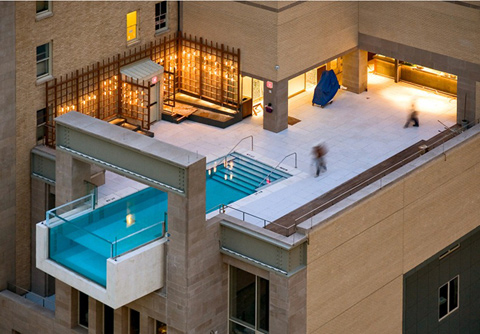 Optimal consulting hotel balcony swimming pools for Pool design dubai