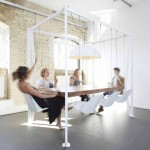 Swing Table Has Eight Hanging Chairs