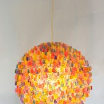 Chandelier Made Out of Over 3,000 Gummy Bears
