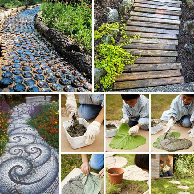 23 impressive sunken design ideas for your garden and yard for Homemade garden decorations