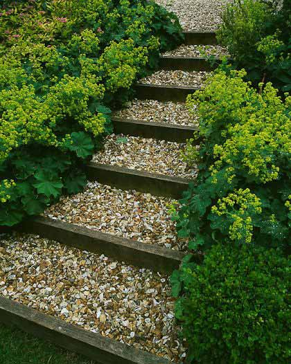 Gallery For Wooden Garden Path Ideas