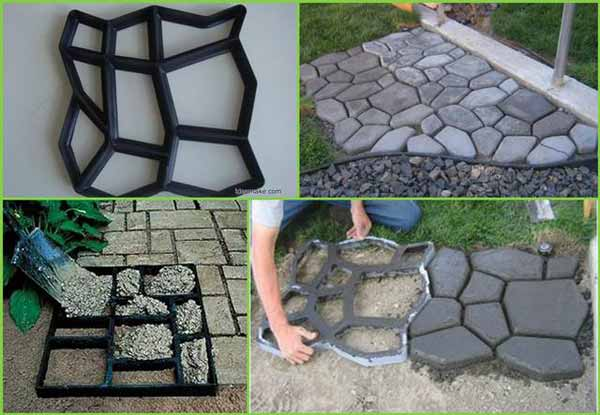 25 lovely diy garden pathway ideas amazing diy interior for Cement garden paths