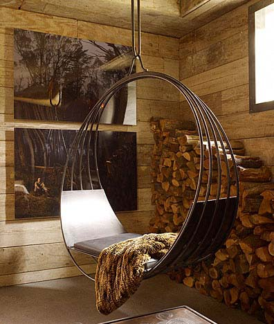 Contemporary indoor swing