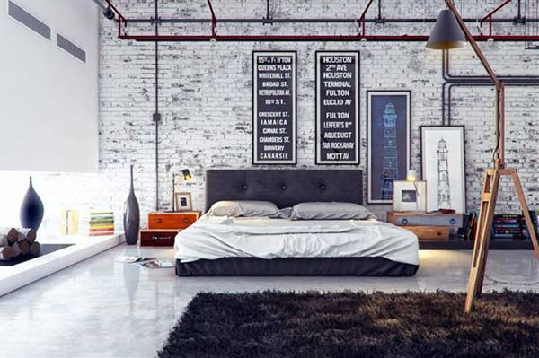 Industrial Wall Decor Ideas : Ideas give your home a rustic or industrial touch