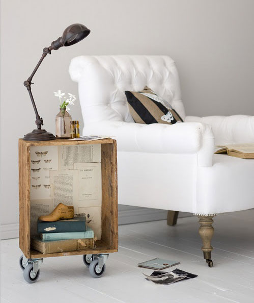 ... , Wheels, Wooden Boxes, End Tables, Bedside Tables, Old Crates, Diy