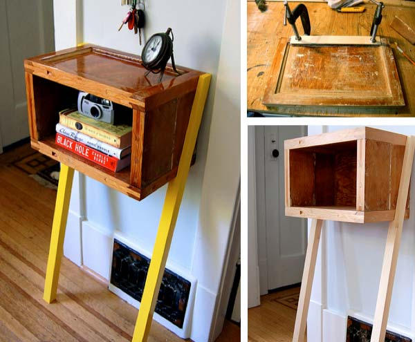 28 unusual bedside table ideas enhance the charm and decor of your Homemade Bedside Table