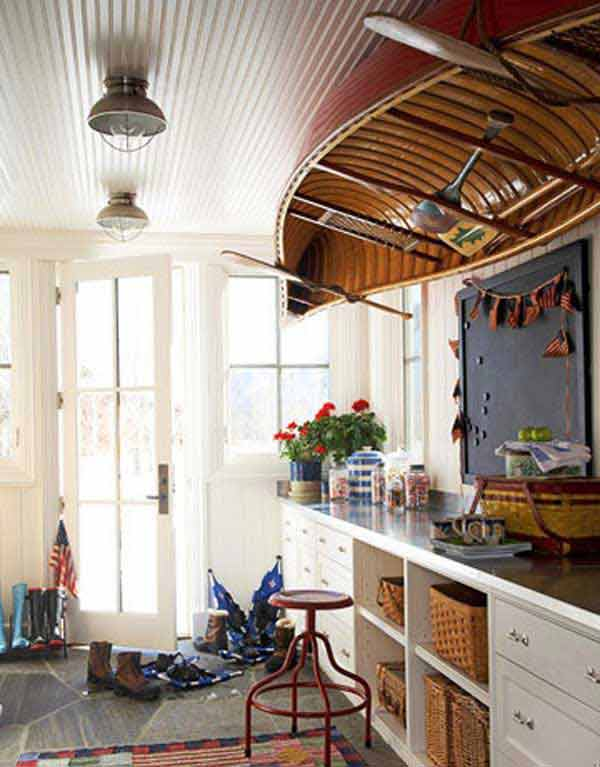 Canoe-as-Ceiling-Decor