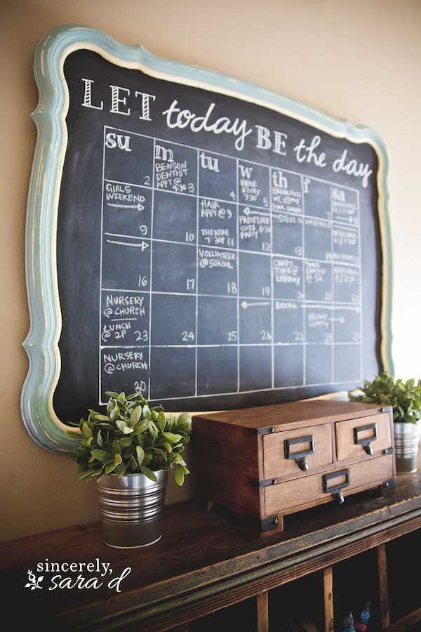 Diy Calendar Wall Art : Chalkboard paint ideas allow you to personalize wall