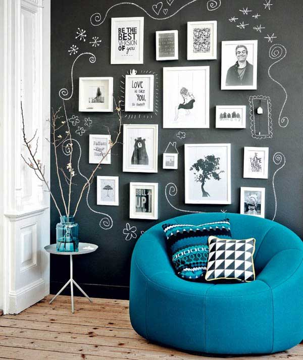 22 chalkboard paint ideas allow you to personalize wall decor for Blackboard design ideas