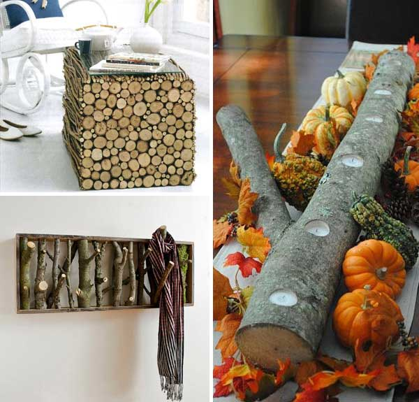 40 diy log ideas take rustic decor to your home - Home Rustic Decor