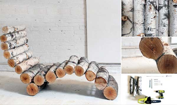 40 Rustic Home Decor Ideas You Can Build Yourself: 40 DIY Log Ideas Take Rustic Decor To Your Home