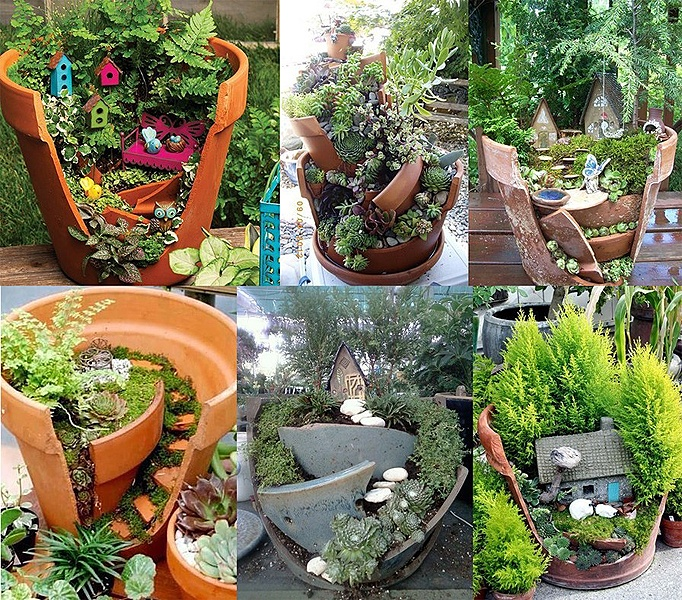 1000 images about fairy garden on pinterest fairies garden garden mushrooms and mini fairy - Fairy garden containers ...