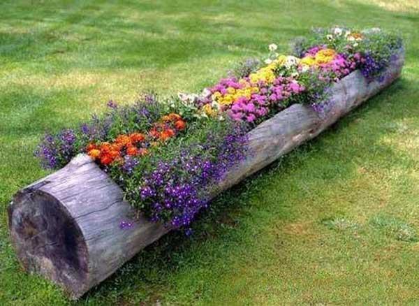 garden log - Cheap Rustic Decor