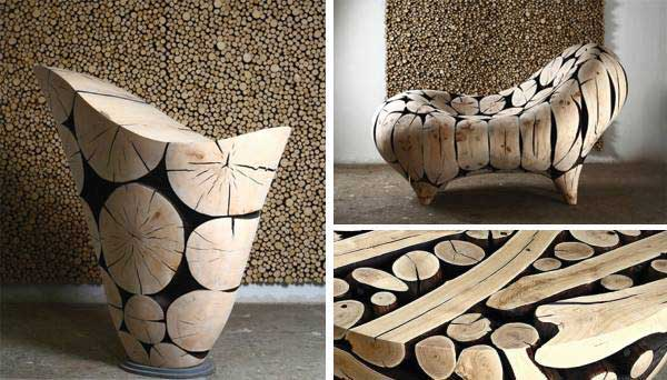 Can find many kinds of home decorations out of logs just as candle