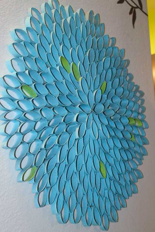 30 homemade toilet paper roll art ideas for your wall decor toilet paper roll wall art 10 2 mightylinksfo Choice Image