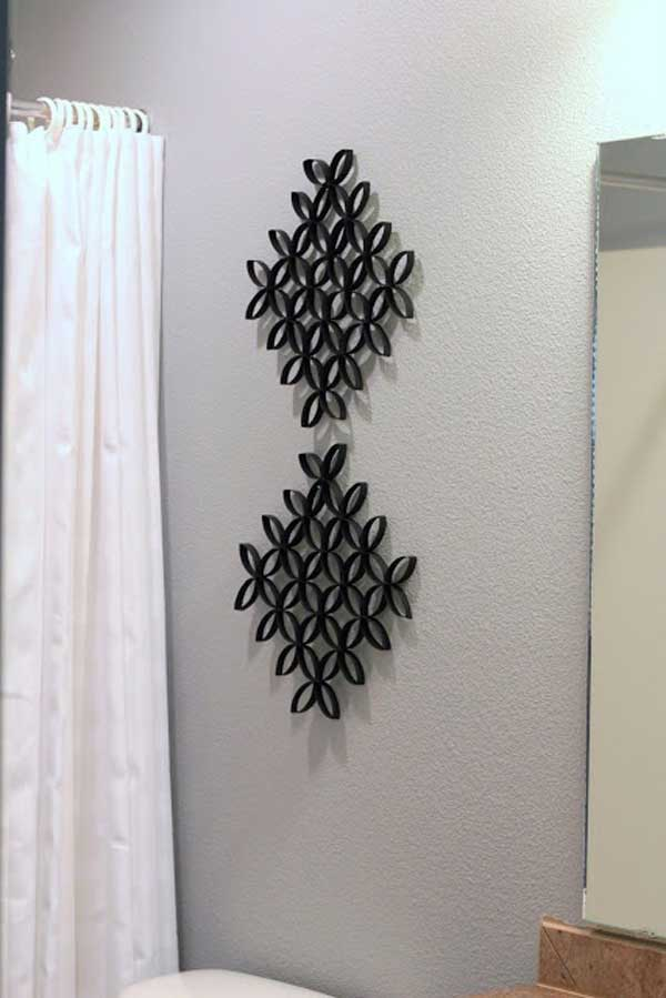 Wall Decor Ideas Using Paper : Homemade toilet paper roll art ideas for your wall decor