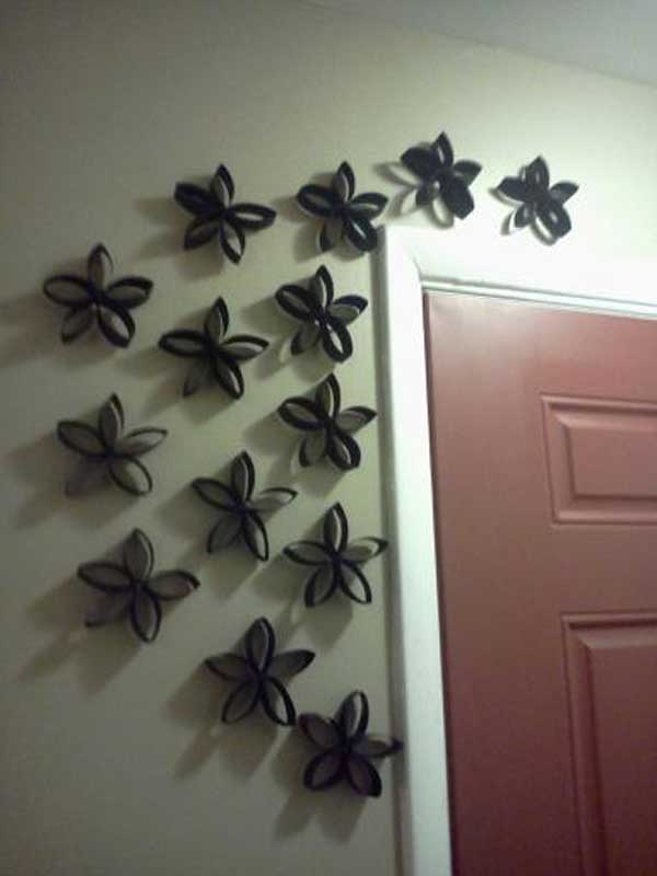 Wall Decor Ideas Using Paper : Homemade toilet paper roll art ideas for your wall
