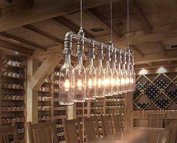 26 inspirational diy ideas to light your home amazing for Diy kitchen light fixtures