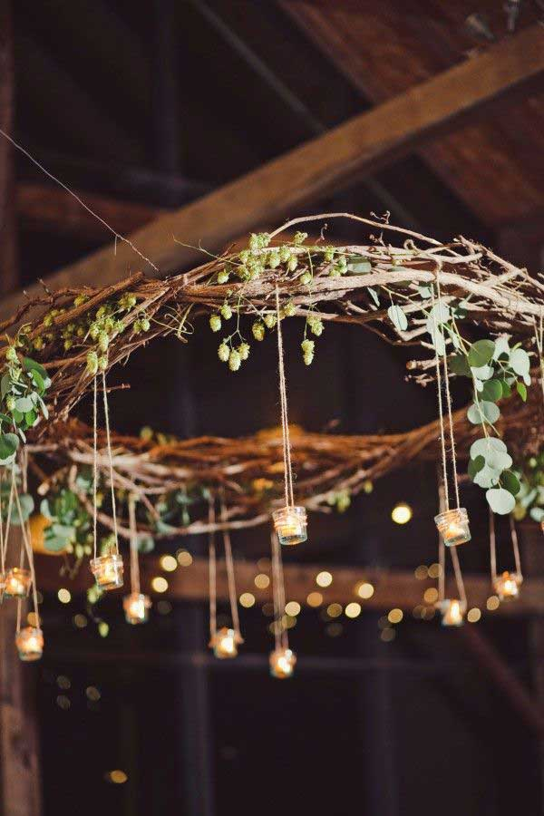 30 creative diy ideas for rustic tree branch chandeliers amazing rustic tree branch chandeliers 0 2 aloadofball Gallery