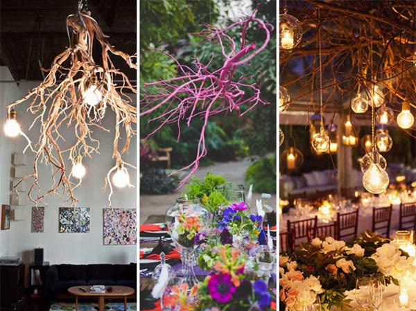 30 creative diy ideas for rustic tree branch chandeliers amazing 30 creative diy ideas for rustic tree branch chandeliers solutioingenieria Images