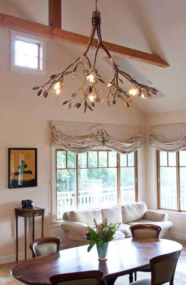 Rustic tree branch chandeliers 11