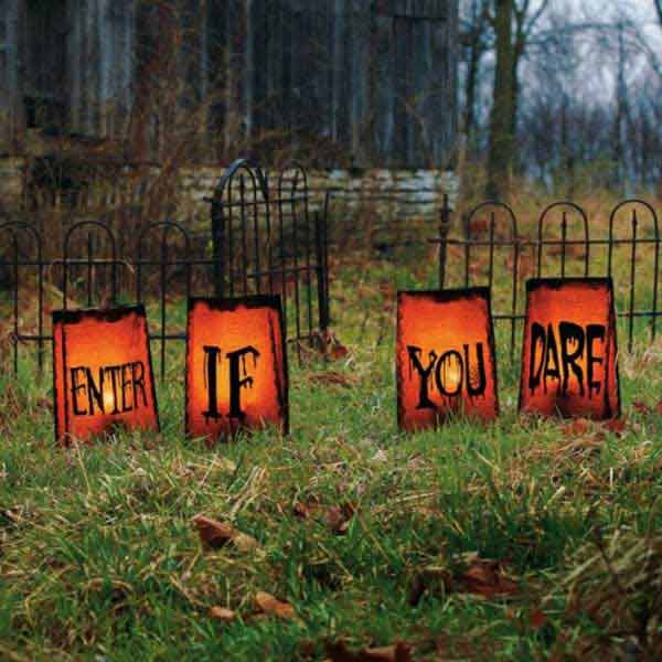 spooky diy decorations for halloween 11 - Diy Scary Halloween Decorations Outdoor