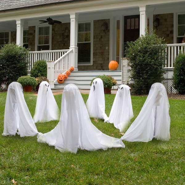 spooky diy decorations for halloween 3 - Diy Halloween Outdoor Decorations
