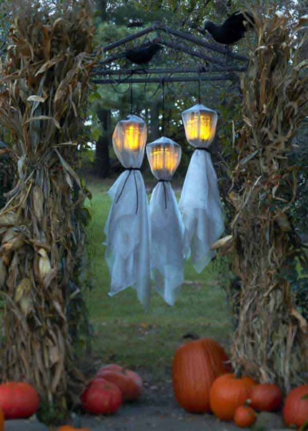 spooky diy decorations for halloween 36 - Scary Outdoor Halloween Decorations Diy