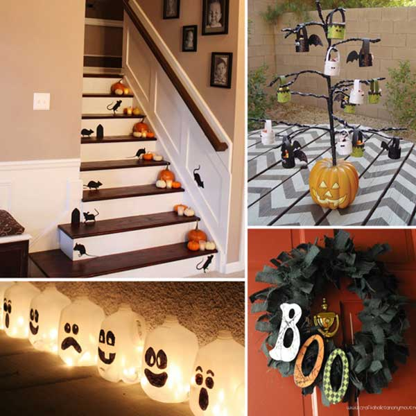 spooky diy decorations for halloween 5 - Halloween Ideas Decorations