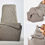 Autumn and Winter Knit Sweater Chair