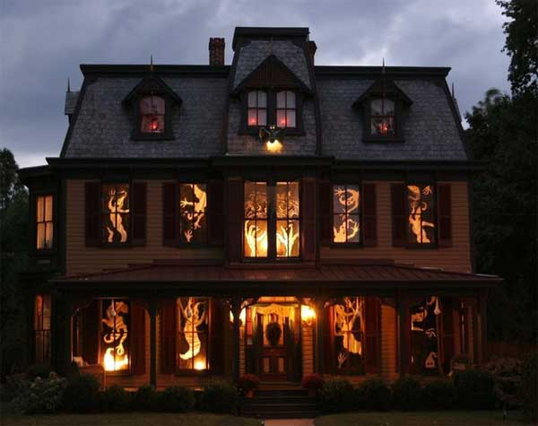 gallery for gt halloween decorated houses