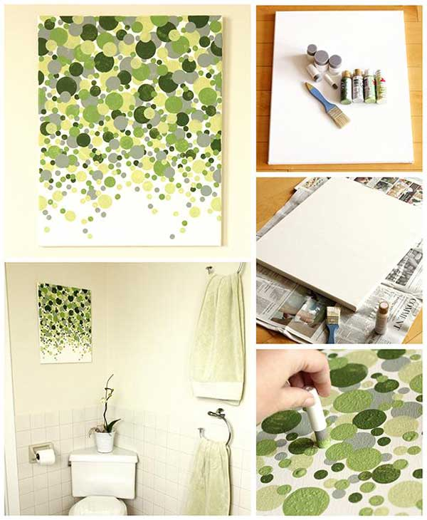 27 easy diy ways to make your walls look uniquely amazing for Bathroom wall decor ideas diy