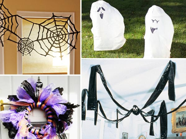 26 diy ideas how to make scary halloween decorations with trash bags - Homemade halloween decorations ...