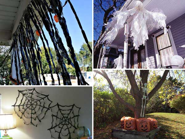 26 diy ideas how to make scary halloween decorations with trash bags - Diy Scary Halloween Decorations