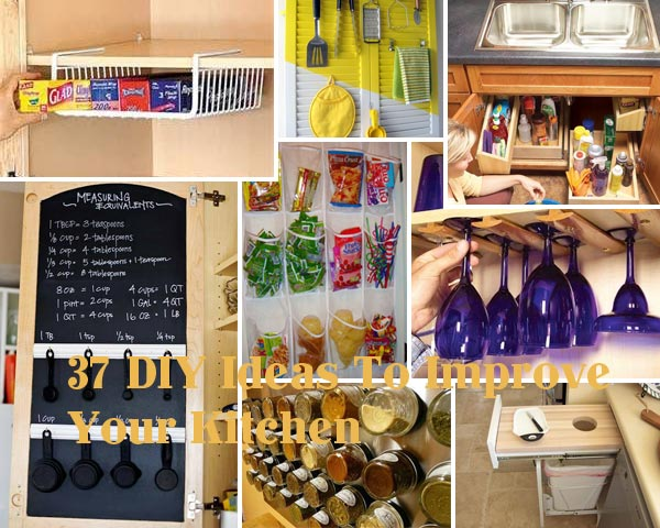 37 diy hacks and ideas to improve your kitchen amazing for Simple diy kitchen ideas