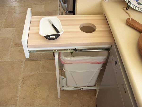 30 smart storage hacks for a small kitchen for Hacker kitchen designs