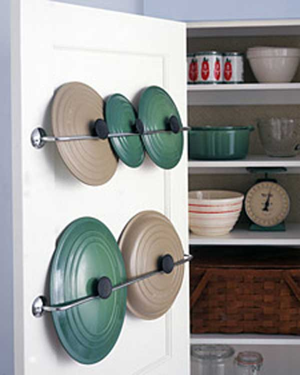 Towel Rack Pot Storage