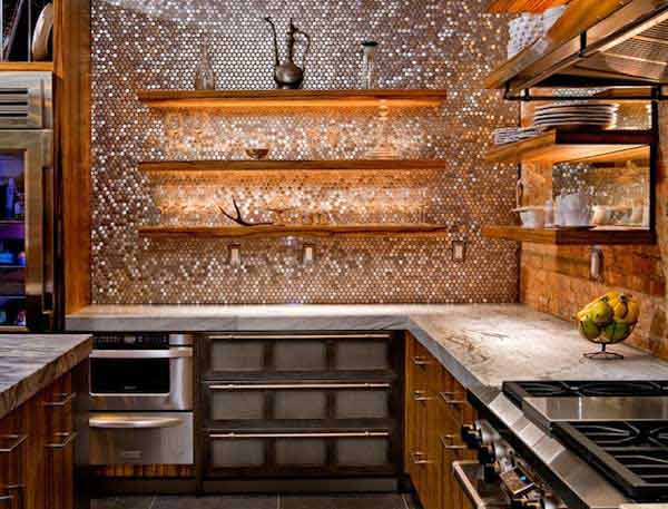 creative kitchen backsplash ideas 20 - Cool Kitchen Backsplash Ideas