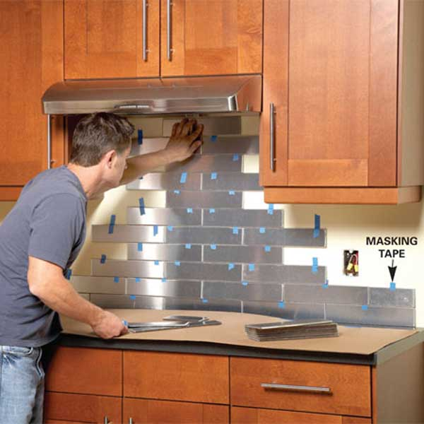 Top 30 creative and unique kitchen backsplash ideas for Cheap kitchen backsplash ideas pictures