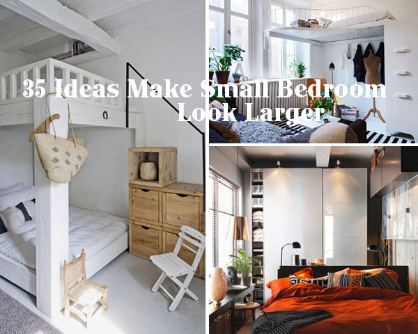 35 inspiring ideas to make your small bedroom look larger for Interior design tips for small rooms