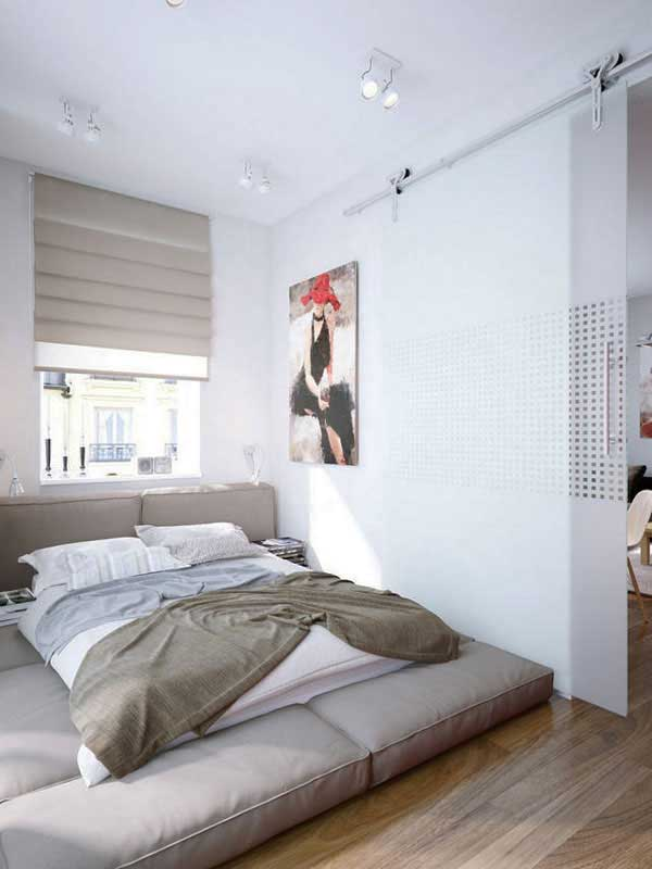 35 inspiring ideas to make your small bedroom look larger - Bedroom with mattress on the floor ...