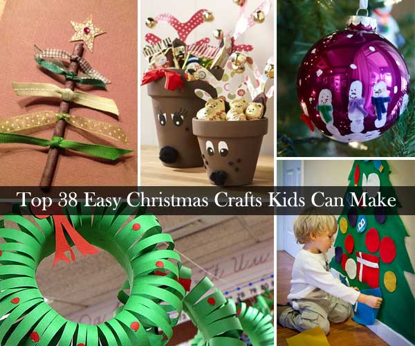 Top 38 easy and cheap diy christmas crafts kids can make Christmas crafts for kids to make at home