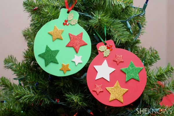 Top 38 easy and cheap diy christmas crafts kids can make for Christmas tree decorations you can make at home