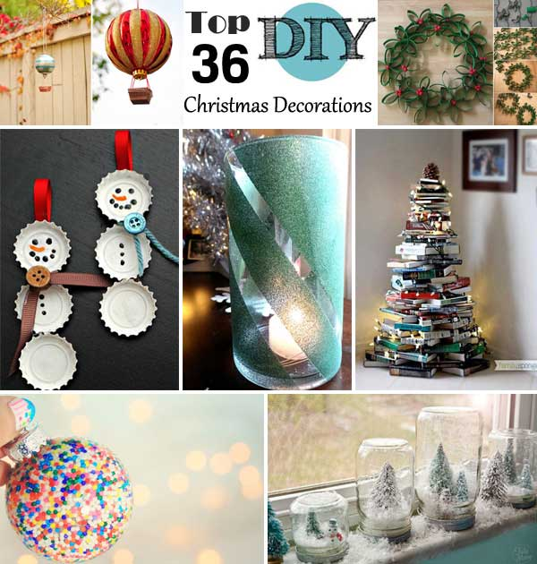 top 36 simple and affordable diy christmas decorations - Christmas Decorations Cheap