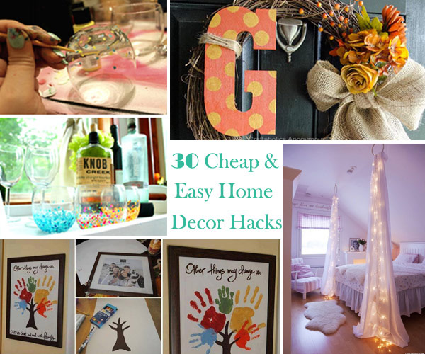 Easy Home Decor Ideas Delectable With Cheap Easy DIY Home Decor Pictures
